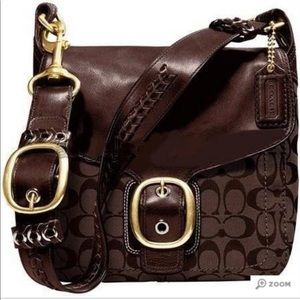 Coach Bleeker large flap handbag ❤️